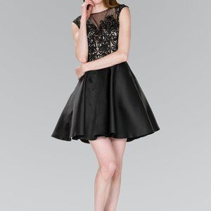Illusion Sweetheart Neck Evening Dress GS2388